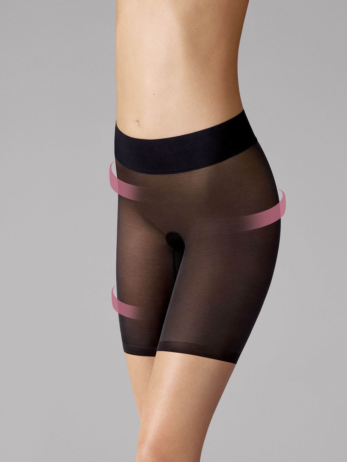 Sheer Touch Control Shorts - 7005 - 40
